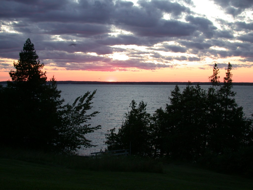 Amherst Island sunset.